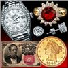 Gold & Silver Coins, U.S. Currency, Luxury Watches, Fine Jewelry,& More!