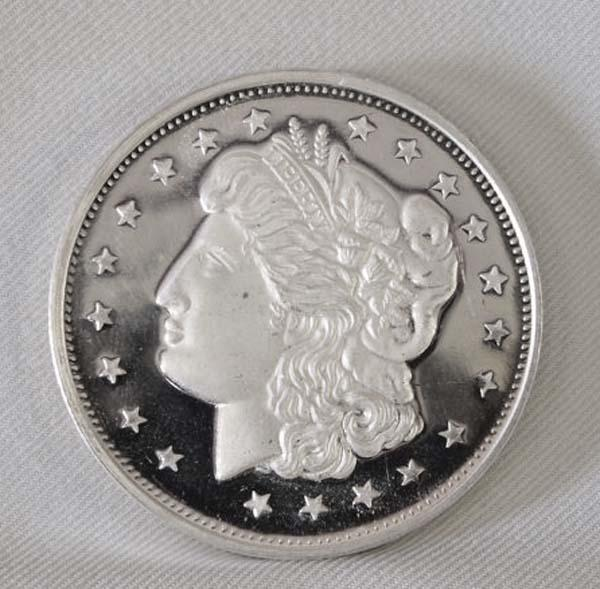 One Troy Ounce Pure Silver Round