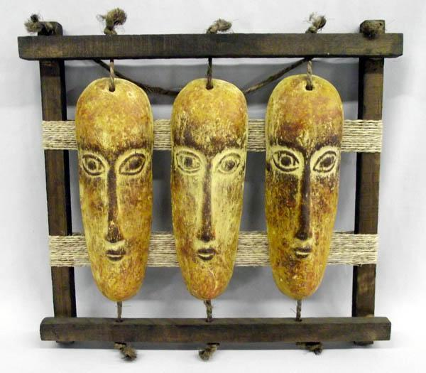 Mexican Native American Indian Face Wall Hanging