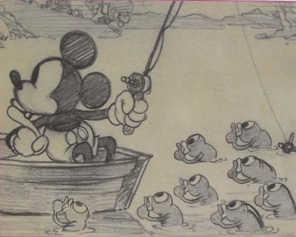 1931, Walt Disney Original Sketch Mickey Mouse.