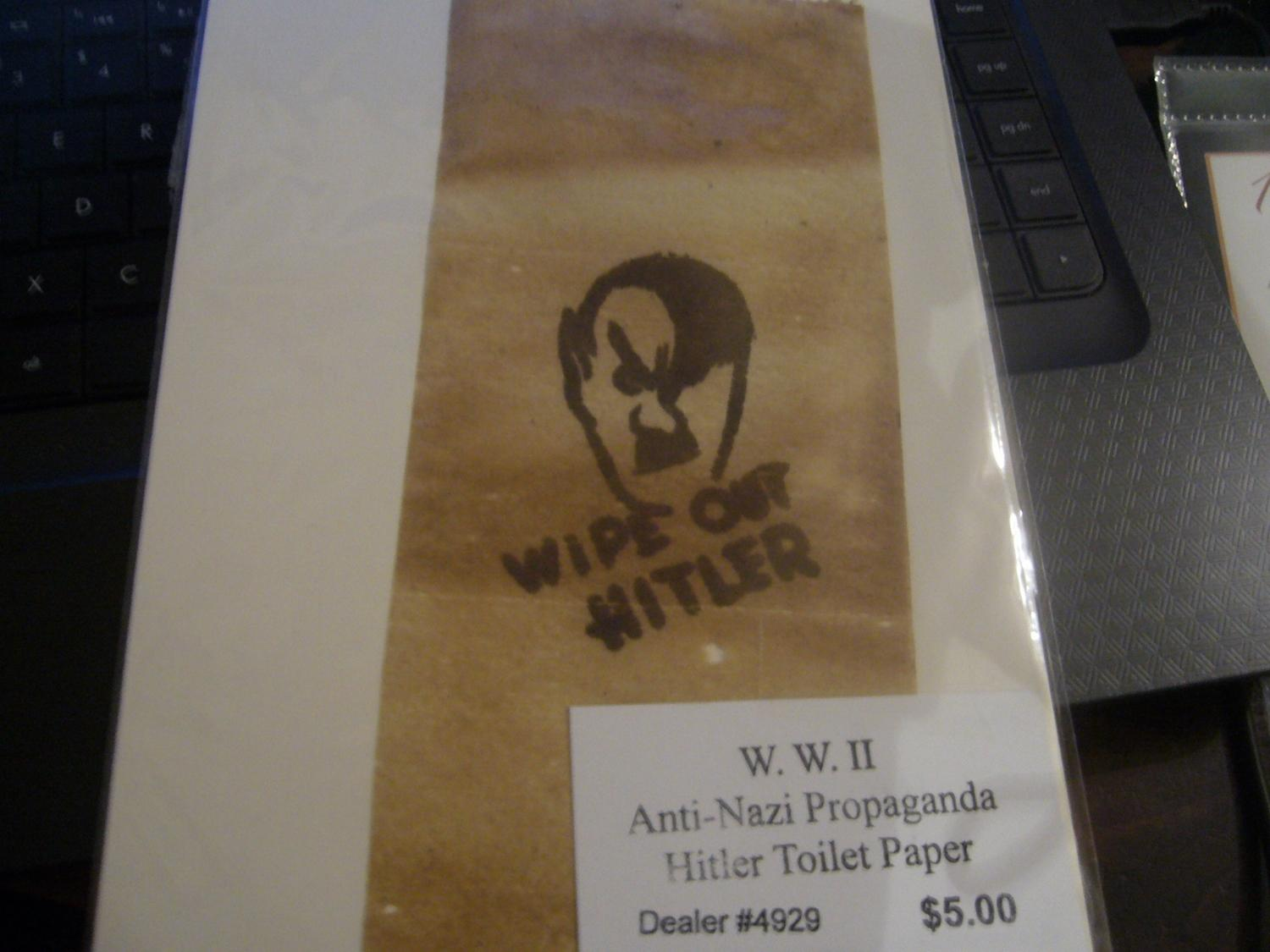 Wipe Out Hitler Toilet Paper