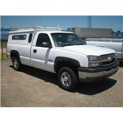 2003 CHEVY 2500 REG CAB, CNG TRUCK,