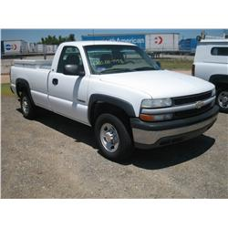 2002 CHEVY 2500 REG CAB, CNG TRUCK,