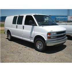 2002 CHEVY 2500 EXPRESS VAN, CNG VEHICLE,