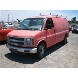 1999 CHEVY 3500 VAN W LADDER RACK,