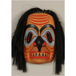 "Nuu-chah-nulth Shark Mask Carved by Tom Patterson 17"" H. 12"" W.   Good Condition with Artist Repair"