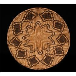 Outstanding Apache Basketry Bowl ca. 1900  14 1/2  D.  Fine Condition