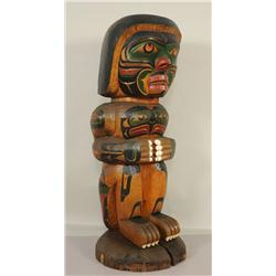 Kwaguilth Chief of the Undersea World Totem Carved by Trevor Hunt - Fort Rupert, B.C. 60  H. 22  W.