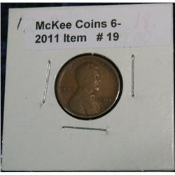 19. 1912 D Lincoln Cent. VG-8.