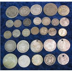 121. Large Group of Foreign Silver Coins dating back to 1818.
