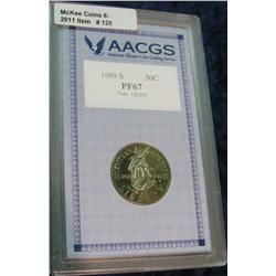 128. 1989 S Bicentennial of Congress Proof Commemorative