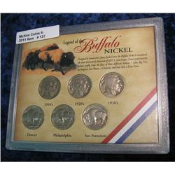 "132. Six-Piece Set ""Legend of the Buffalo Nickel"""