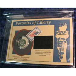 135. 1976 S Proof Silver Bicentennial Quarter in special holder.
