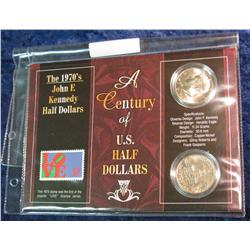 "138. ""A Century of U.S. Half Dollars"" Set of (2) Kennedy Half Dollars. BU."
