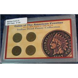 "139. ""Coins of the American Frontier"" Indian Head Penny Collection"