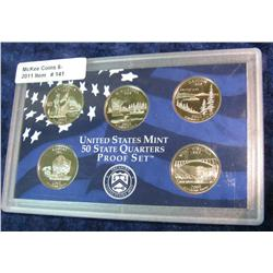 141. 2005 S U.S. Mint 50 State Quarters 5-Piece Proof Set.