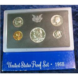 353. 1968 S U.S. Silver Proof Set. Original as issued.