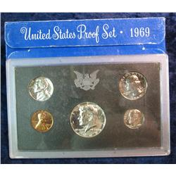 354. 1969 S U.S. Silver Proof Set. Original as issued.
