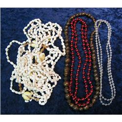 502. (3) Shell & (3) Bead Necklaces.