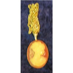 508. Large Cameo Necklace with Chain.