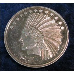 542. indian Head One Ounce .999 Silver,Silver Town