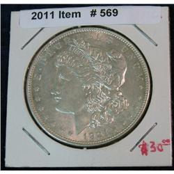 569. 1921 P Morgan Silver Dollar. Unc.