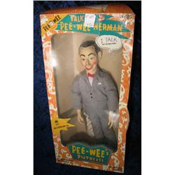 674. Talking Pee Wee Herman doll in original box