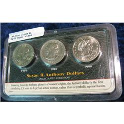 686. 1979, 80, & 99 Susan B. Anthony Gem BU Dollars