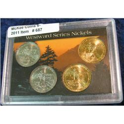 687. Westward Series Ocean View Nickel Set. 4 pcs.