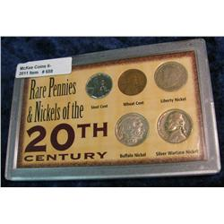 688. Rare Pennies & Nickels of the 20th Century. 5-pcs.