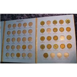 692. Partial set of Indian Cents 1881-1908 in a Whitman folder.