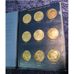 699. 1971-76 Partial Set of Eisenhower Dollars in a