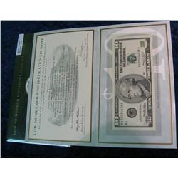 701. Series 1999 Low Numbered Uncirculated $10 Note