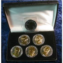 712. Six-Piece Presidential Double Eagle Set in