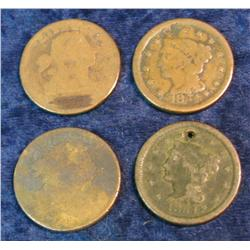 749. (4) Old U.S. Large Cents dating back to 1798.