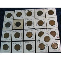 765. (21) Old U.S. Cents dating 1902-48. Includes lots of teens.