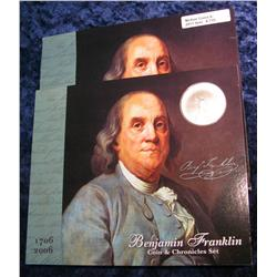 770. 1706-2006 Benjamin Franklin Coin & Chronicles Set.