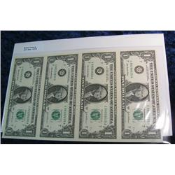 776. Series 2003A Uncut Sheet $1 Federal Reserve Notes.