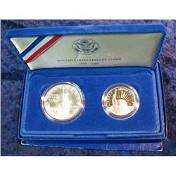 781. 1986 S Statue of Liberty Two-Piece Proof Set.