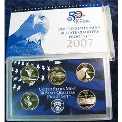 787. 2007 S Proof State Quarter Set. Original as issued.