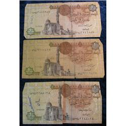 790. (3) Central Bank of Egypt Banknotes.