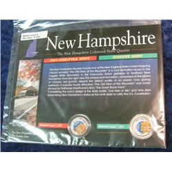 1380. New Hampshire Colorized State Quarter Set.