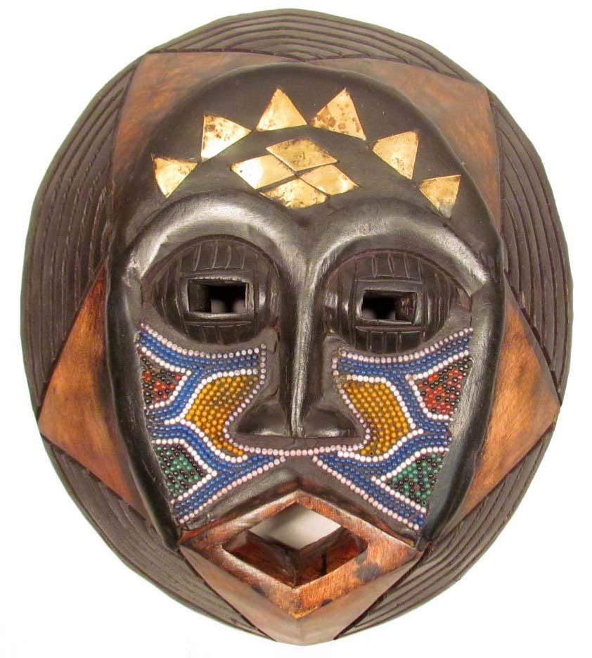 HAND CARVED AFRICAN TRIBAL MASK