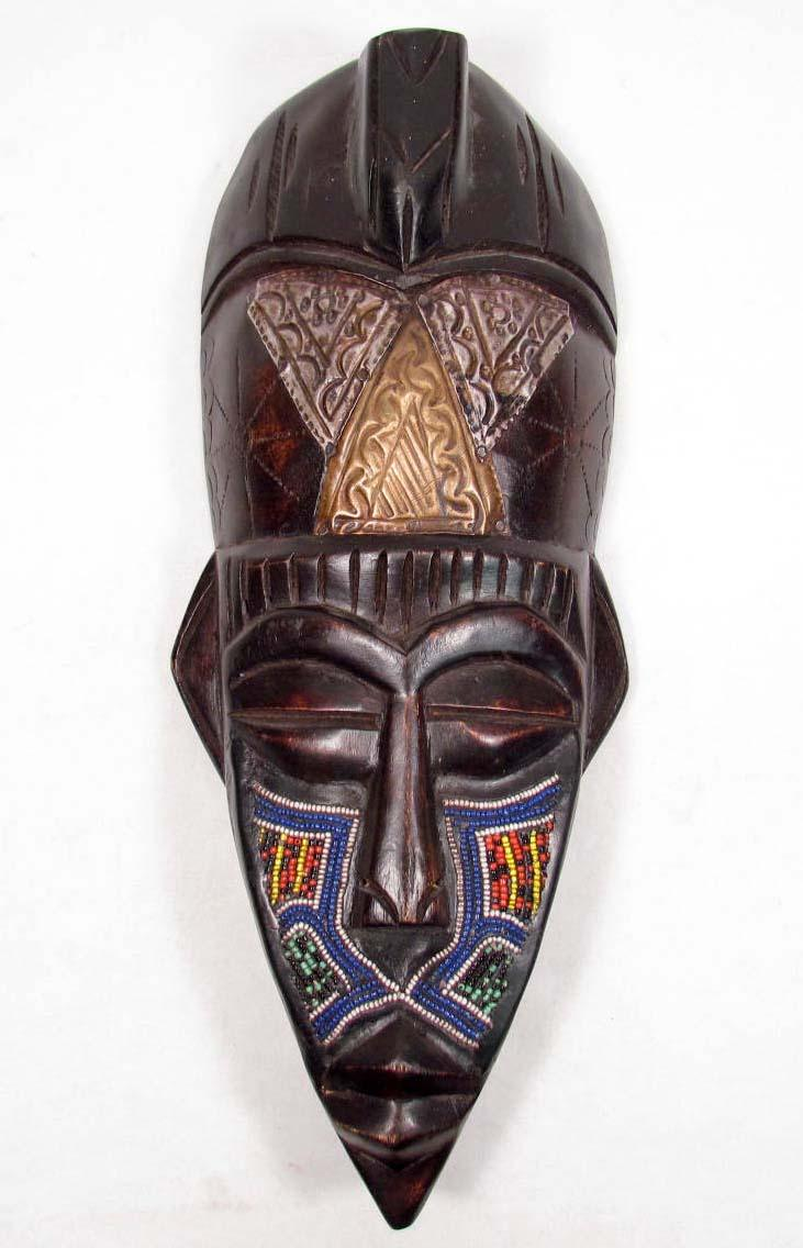 3659 hand carved african tribal mask 14quot tall