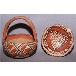 TWO ISLETA POTTERY BOWLS