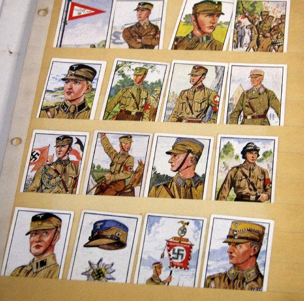 BINDER 100'S OF WWI & WWII GERMAN CIGARETTE CARDS