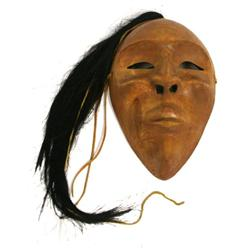 SIGNED PACIFIC COAST NATIVE AMERICAN PORTRAIT MASK
