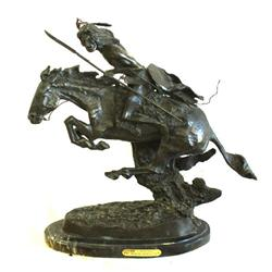 "FREDERIC REMINGTON ""THE CHEYENNE"" BRONZE STATUE"