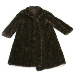 LADIES MID-CALF LENGTH SABLE FUR COAT