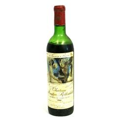 1973 CHATEAU MOUTON ROTHSCHILD PAUILLAC WINE BTL